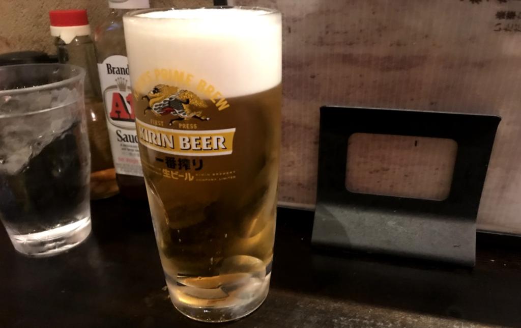 なんちち食堂(生ビール)