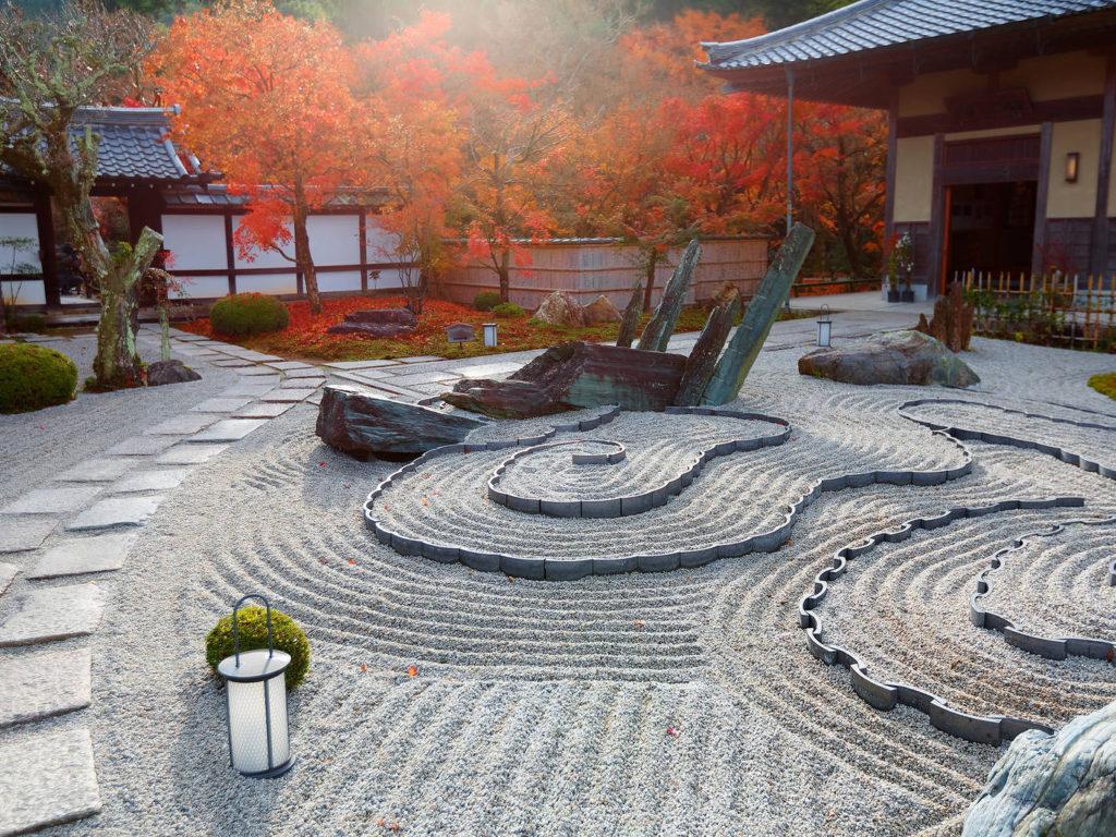 円光寺(京都)の枯山水庭園