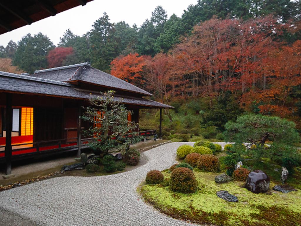 曼殊院門跡(京都)の枯山水庭園