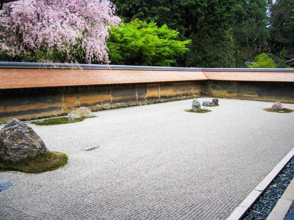 龍安寺(京都)の枯山水庭園